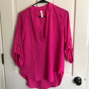 Hot Pink Size Small Blouse